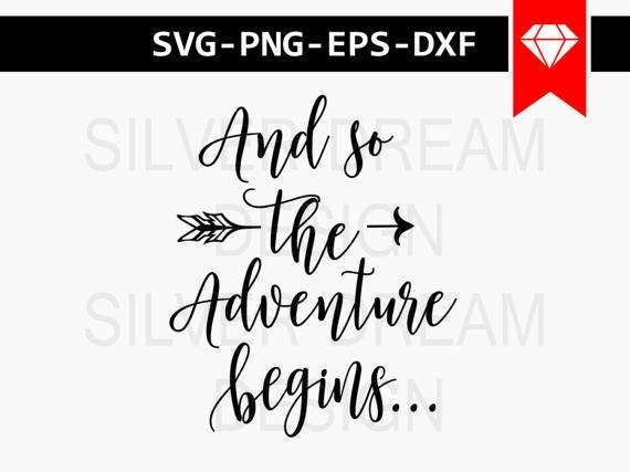 And So The Adventure Begins SVG #adventure #cricut #svg #etsy #etsyshop #newborn #onesie #crafts #silhouette #babyshowerideas #svg #silhouettecameo