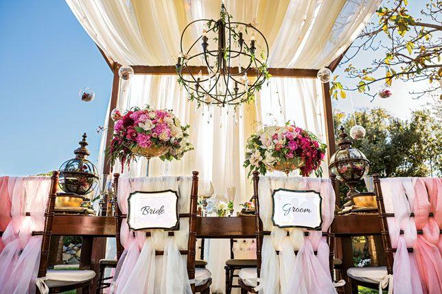 Tabletops: Steampunk Fantasy, Ombre wedding  {sevenstemsdesign.com}