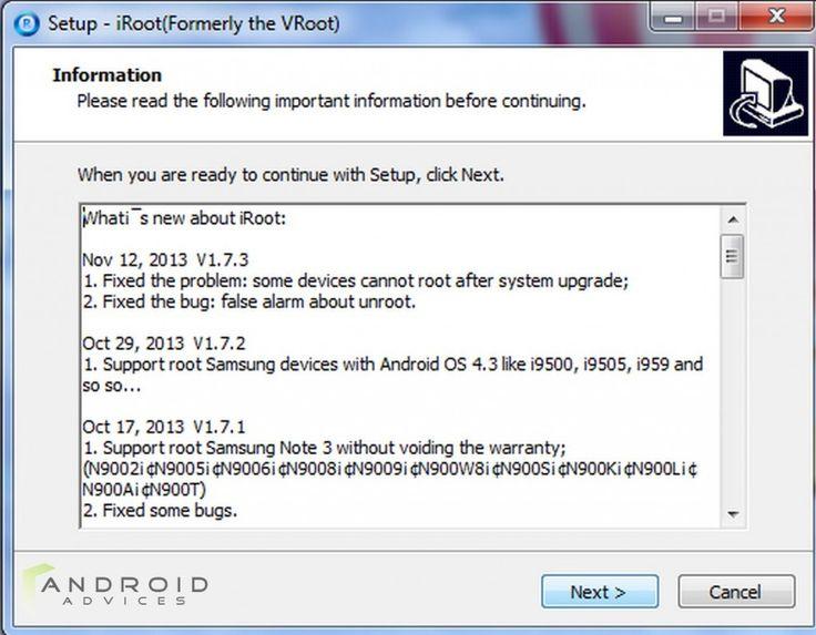 Cài đặt phần mềm iRoot - Ảnh 1