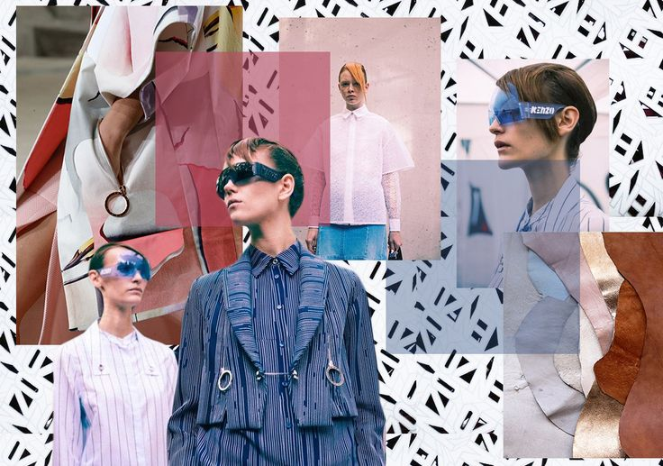 """Kenzo is air, water and earth"" The new post on www.joujouvilleroy.com #kenzo #moodboard #pink #blue #fashion"