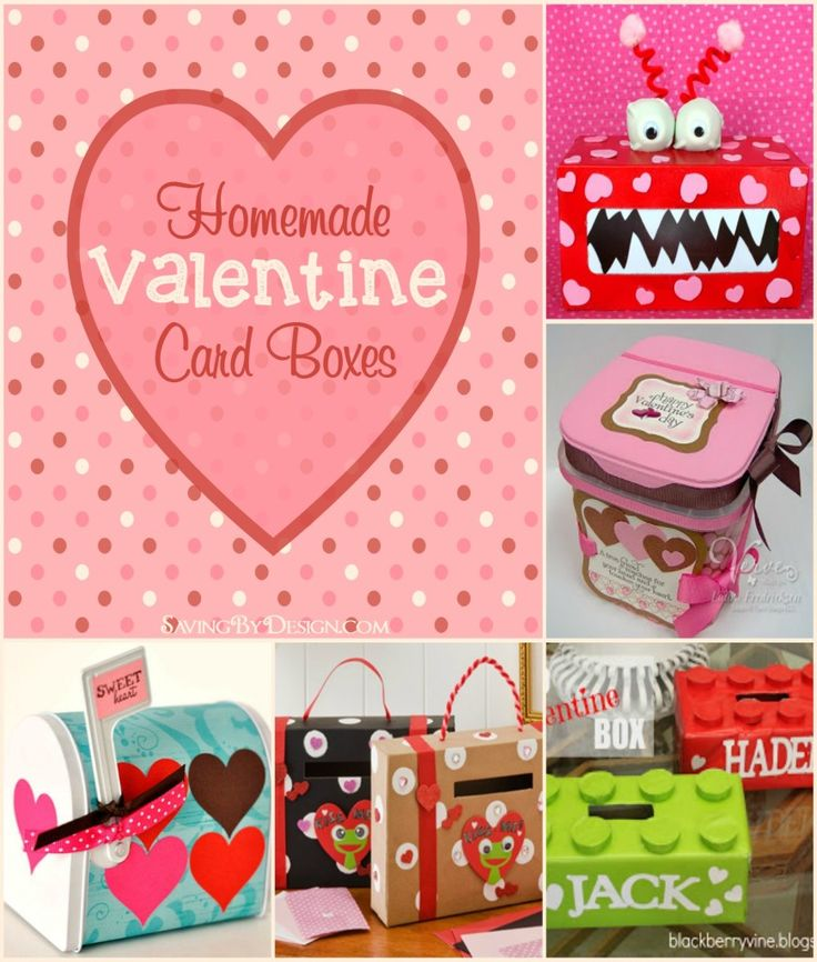 These Homemade Valentine Card Boxes are perfect for holding your child's holiday cards and treats! | Saving by Design