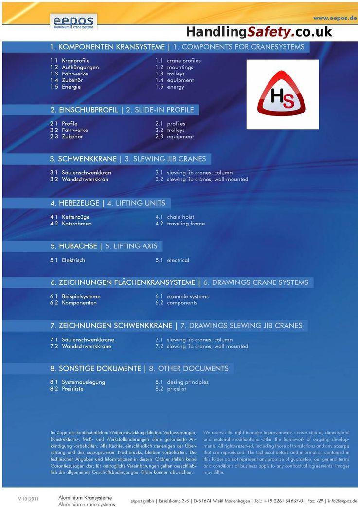 Eepos aluminium cranes systems from Handling Safety