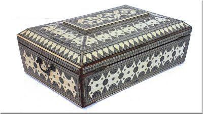 arab stílusú bútor, ékszertartó doboz