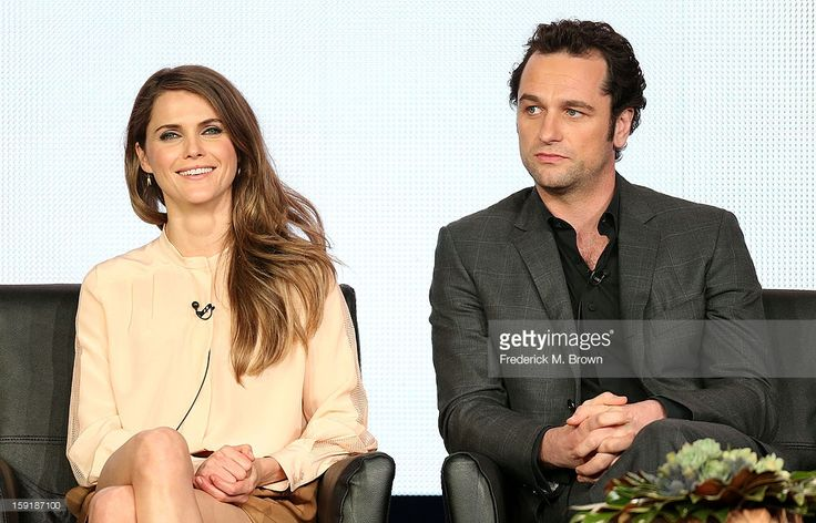 Actress Keri Russell, (L) and actor Matthew Rhys, of the television show 'The Americans' speak during the FX Networks portion of the 2013 Winter Television Critics Association Press Tour at the Langham Hotel and Spa on January 9, 2013 in Pasadena, California.
