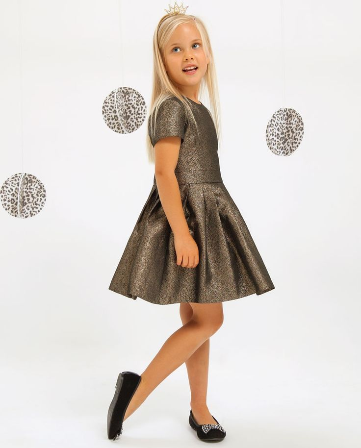 Little Girl's Metallic Dress - Bardot Junior