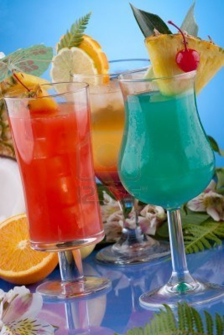Mai Tai And Blue Hawaiian Cocktails Recipe — Dishmaps