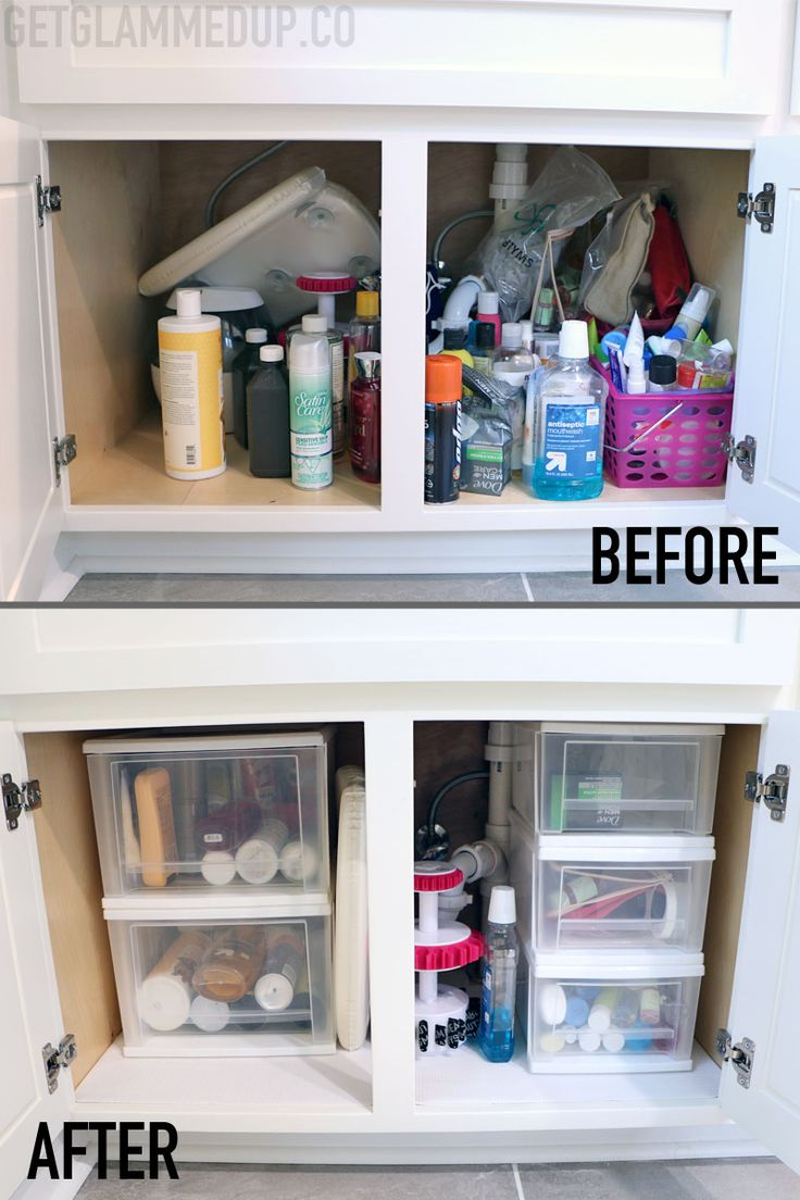 How to Organize Under Your Bathroom Sink