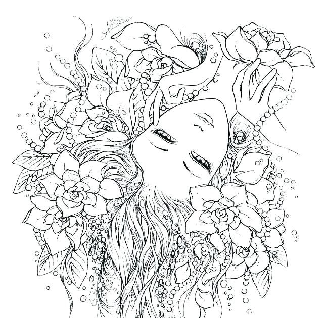 Printable Advanced Fairy Coloring Pages