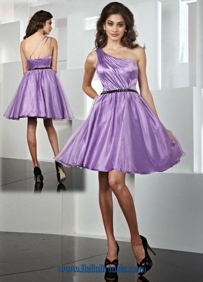 Modelos de Vestidos Cortos de color Morado. Vestidos Para Tu Fiesta.