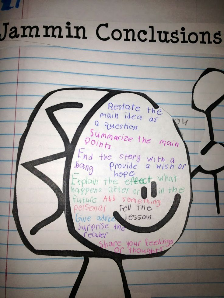 The Best Ways to Teach Revising and Editing blog post.  Lots of ideas for writing!  This is an example of how to make conclusions better....Jammin Conclusions!