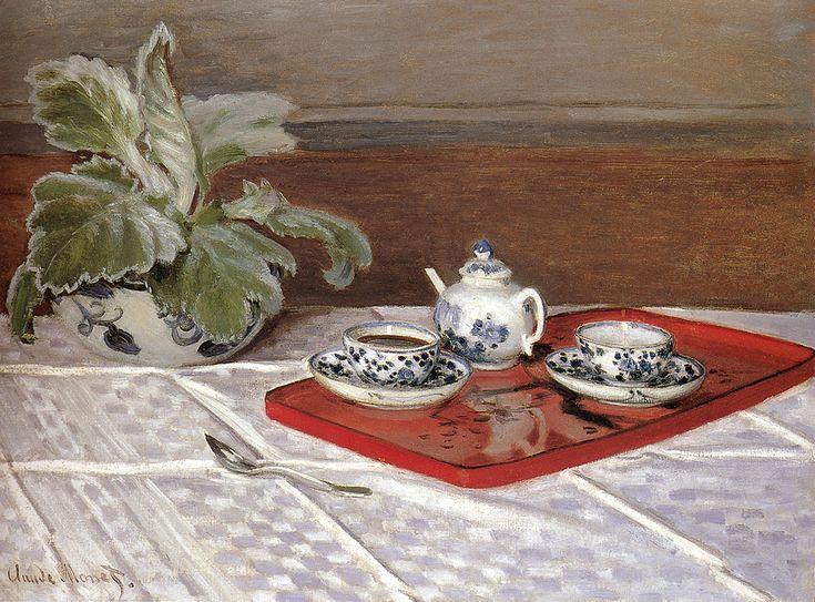 The Tea Set, 1872 - Claude Monet