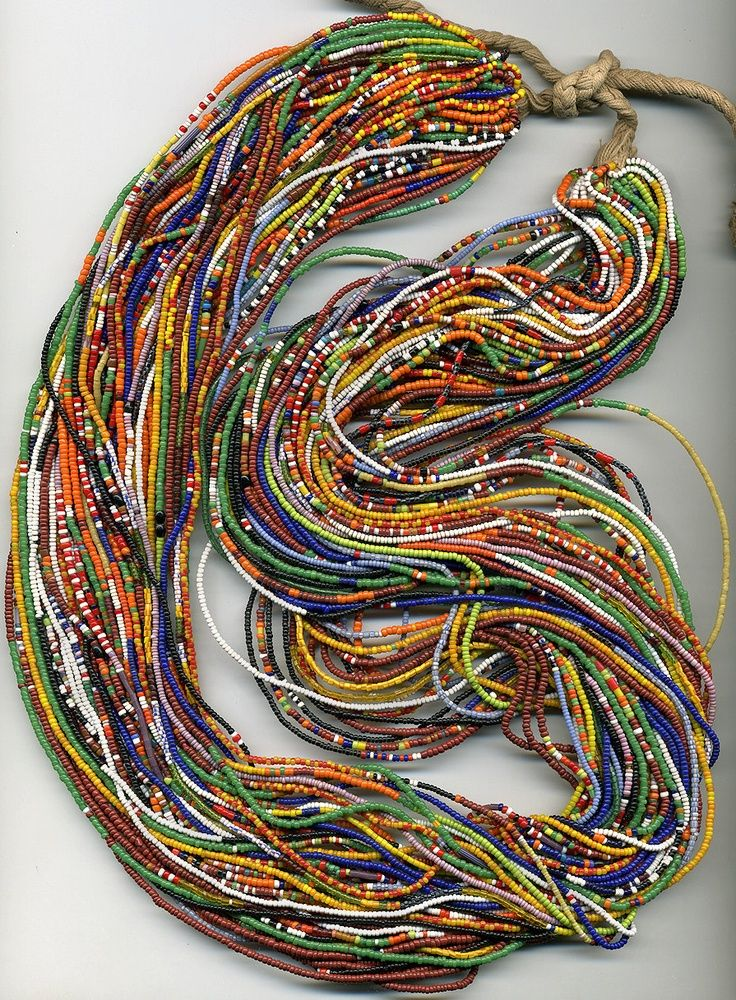 a glorious richness of African beads