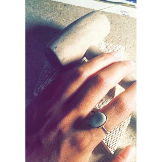 Handmade#ring#stone#silverplated#love#sea#jewellery#art#greek#design#