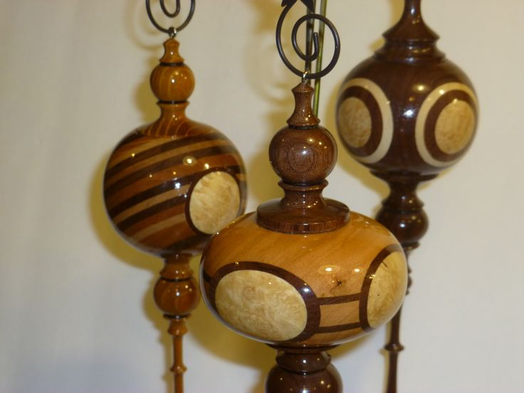 17 Best images about Christmas ornaments: turned wood on ...