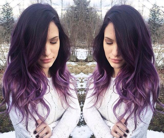 Best 25+ Purple tips ideas on Pinterest | Purple hair tips, Dark ...
