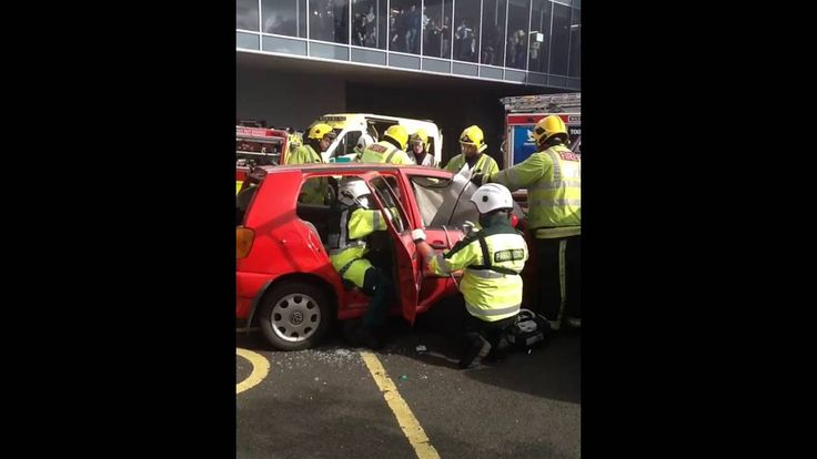 West Midlands Police, Fire and Ambulance Services reconstructed a crash scene outside Bournville College, allowing students to see them in action and more importantly, the consequences of not paying attention on the road.