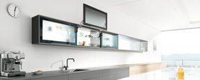 AVENTOS HL cabinet lift style for first row kitchen upper cabinet
