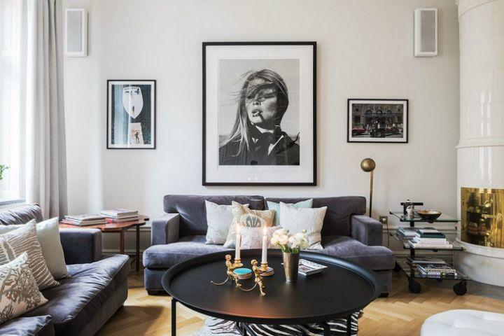 Adorable Scandinavian-style living room