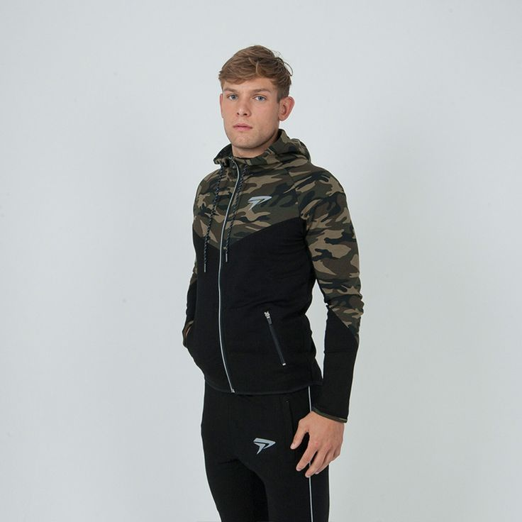 Brand New camouflage hoodie supreme zipper hoodie army green army grey slim fit fitness hoodie Size M-XXL premium quality