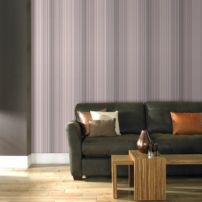 Metro Striped Wallpaper - Stripes Wall Coverings by Graham  Brown