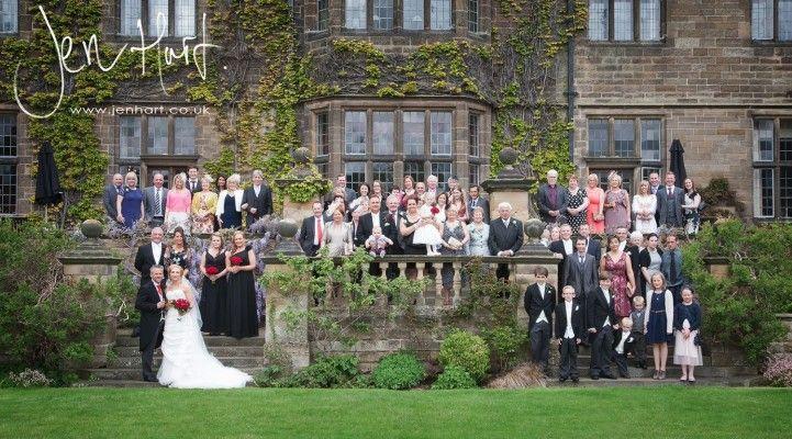 Wedding group shot. Full guest photograph.