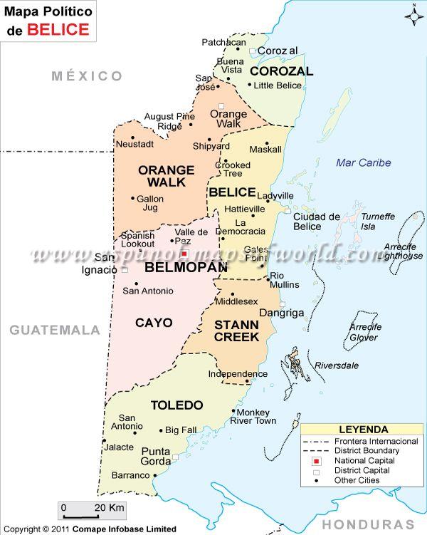 Belice está en Centroamérica. El turismo que recibe es, en su mayoría, de playa, aunque en el país se pueden encontrar restos mayas de gran interés, disfrutar de excelentes paisajes naturales, observar aves y practicar deportes como el senderismo, el rafting o el buceo en un entorno incomparable.