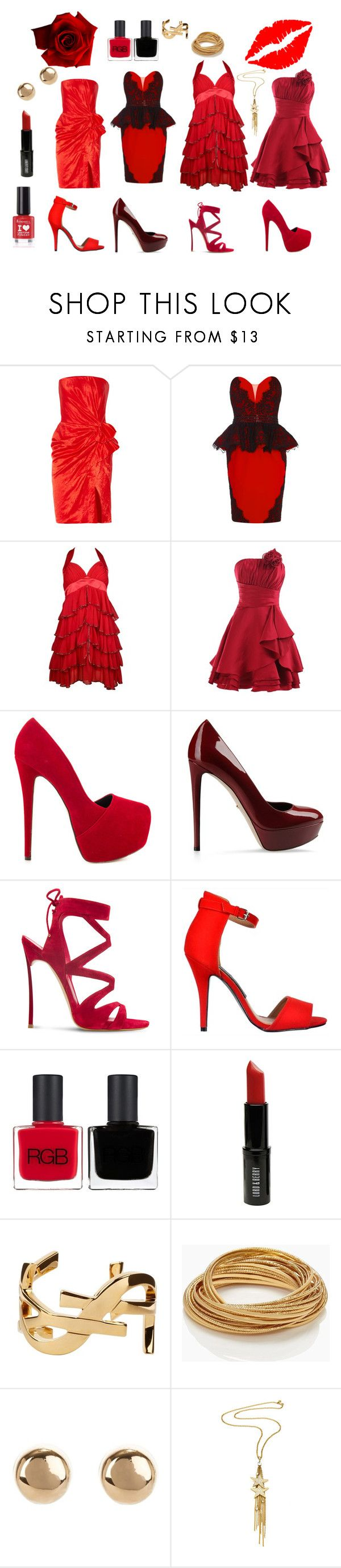 red dresses by kelly17-kalymnos on Polyvore featuring Landybridal, Lanvin, Sergio Rossi, Liliana, Casadei, Kate Spade, Yves Saint Laurent, Jules Smith, Ben-Amun and Lord & Berry