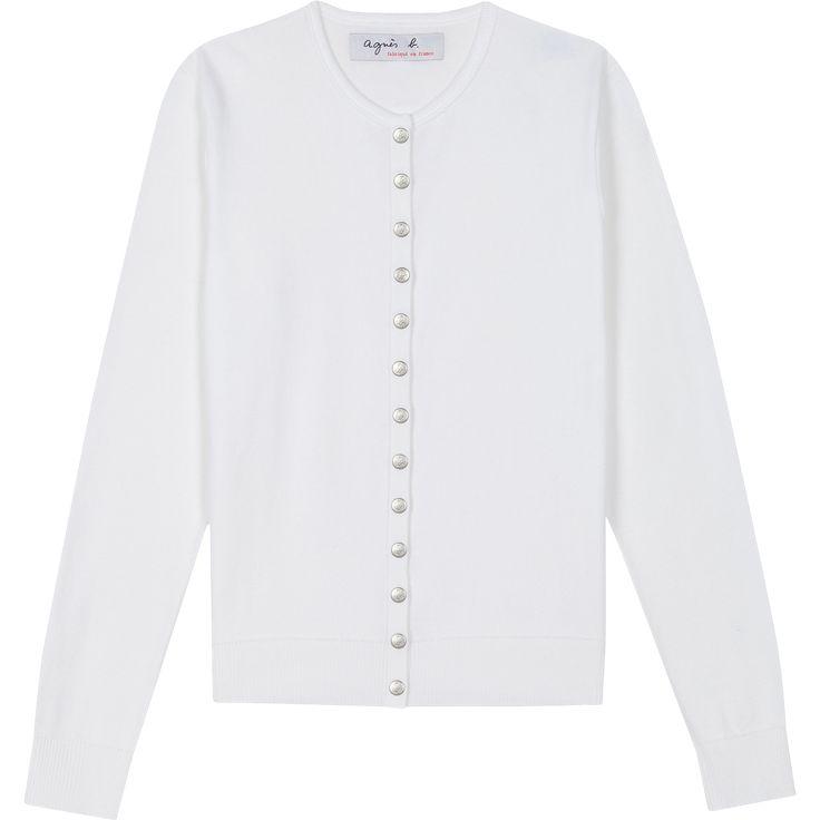 cardigan swing métal blanc