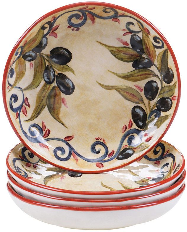 Certified International Umbria 4-pc. Soup Bowl Set