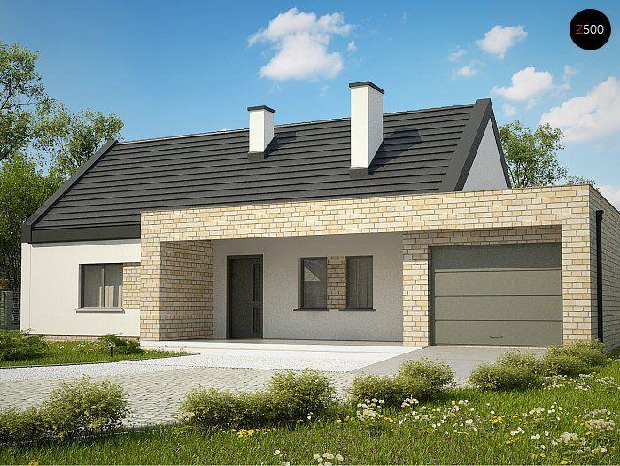 Общая площадь 132,0 м² Проект дома Z53A это проект небольшого дома, который понравится тем, кто любит проекты домов в современном стиле.