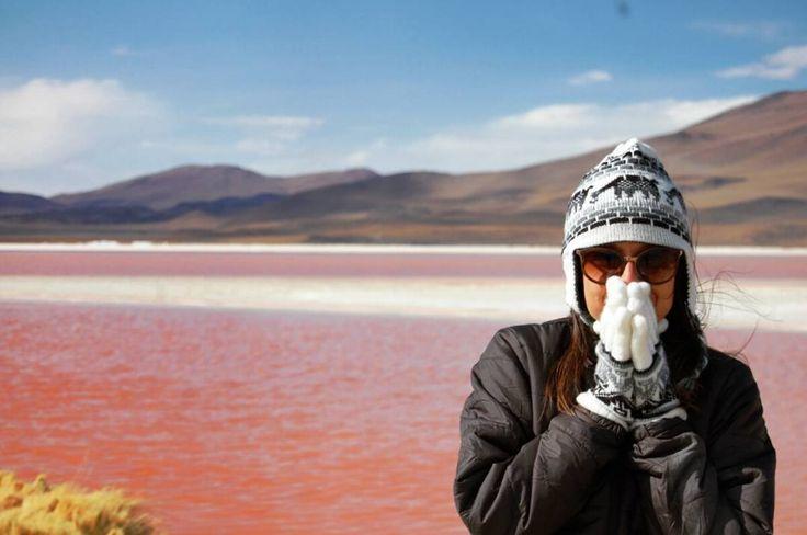 """""""Laguna Colorada e o friozinho do verão boliviano!  #eduardoavaroa #lagunacolorada #parquenacionaleduardoavaroa #bolivia #atacamadesert #desertodoatacama…"""""""