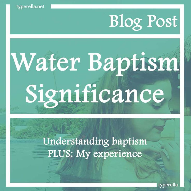 Baptism is a public confession that you are a follower of Jesus.