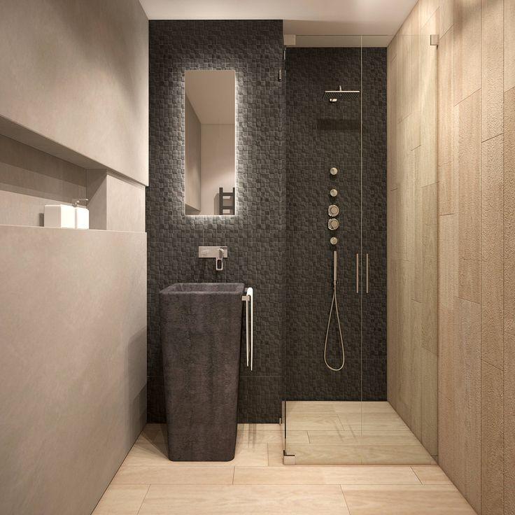 Bagno minimalista di FAMM DESIGN