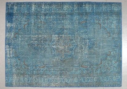 tapis turc ancien bleu authentic vintage rugs pinterest decoration. Black Bedroom Furniture Sets. Home Design Ideas