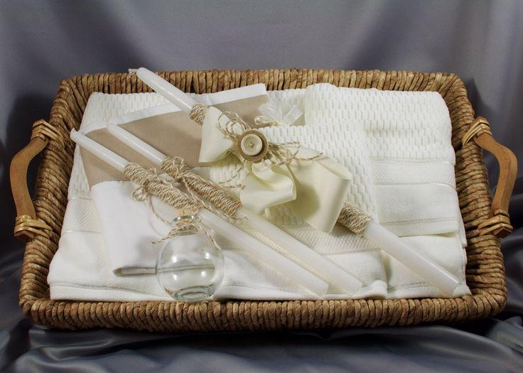 Boy's Baptismal set-Ladopana-Orthodox Baptism-Greek Baptism-baptismal candles by…