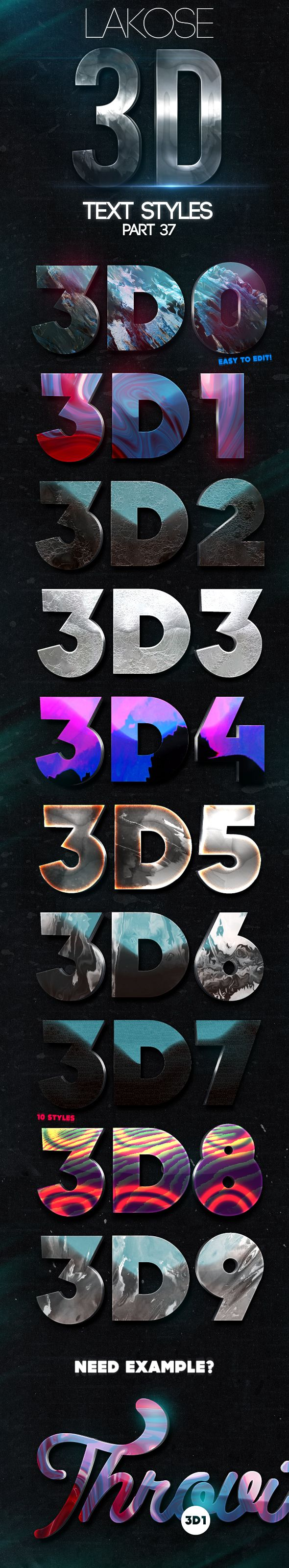 Mysterious poster design with 3d text - Lakose 3d Text Styles Part 37