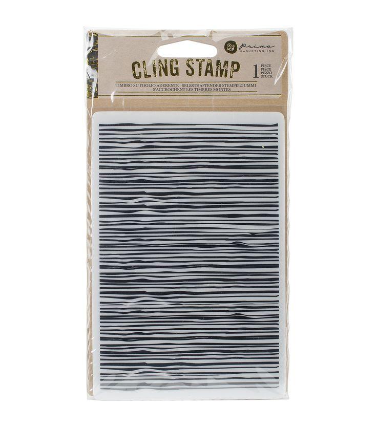 Prima Marketing Cling Stamp - Wood Design Lines