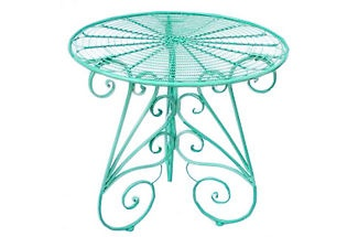 Bistro table in turquoise
