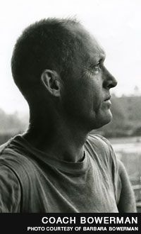 Bill Bowerman. Bill Bowerman (1911-1999) is considered one of the greatest track and field coaches the world has ever known. In his 24 years at the University of Oregon, he won four NCAA team championships and coached 33 Olympians, 16 sub-four-minute milers and 64 All-Americans