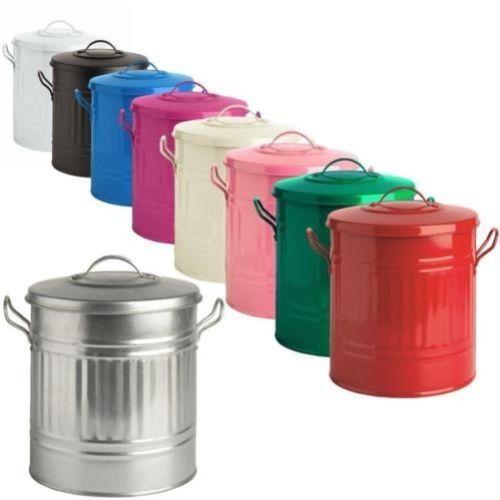15L-15-Liter-Farbe-Mini-Metall-Muelleimer-Klein-Abfalleimer-Muell-Badezimmer
