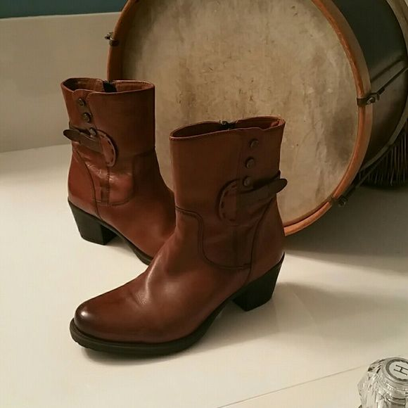 Clarks Boot Cognac Brown- Worn only twice! Clarks Shoes Ankle Boots & Booties