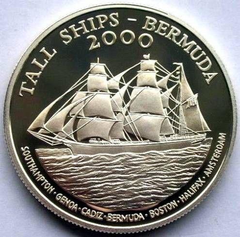 Bermuda, $1, 2000.  The Tall Ships, Bermuda, 2000.