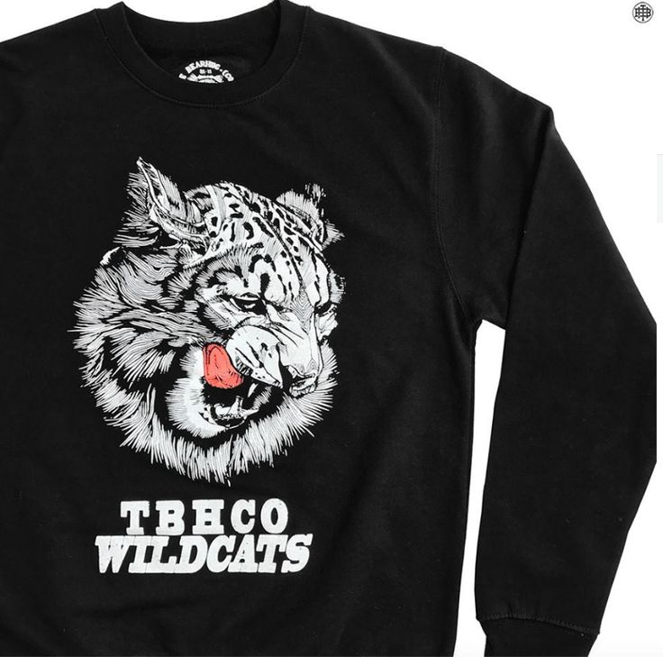 NEW: Limited Edition 'Snow Leopard' Black Sweatshirt - Only £34.95 + FREE P&P #sweatshirt #blacksweatshirt #thebearhugco #lukedixon #design #logo