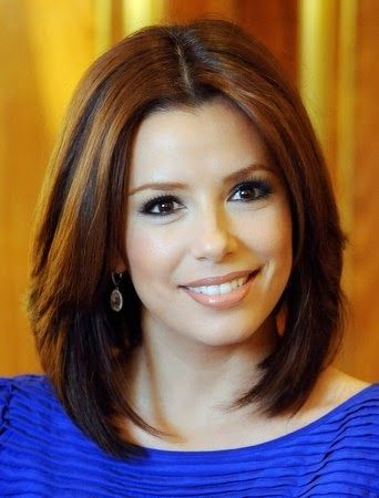 Cute Shoulder Length Hairstyles 2014 Eva Longoria