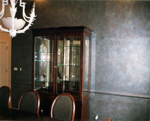 Metallic Paints For Interior Walls: Metallic Faux Finish Wall Painting