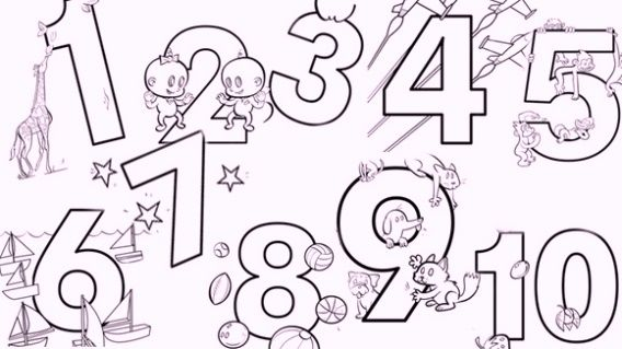 13 best Easy Number Coloring Pages images on Pinterest | Kids and ...