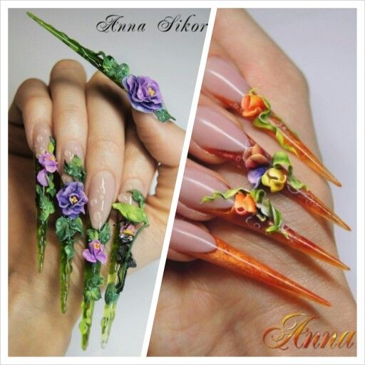 #stiletto #naildesign #nailart #nails #inspiration collage created by http://www.naildesignshop.nl