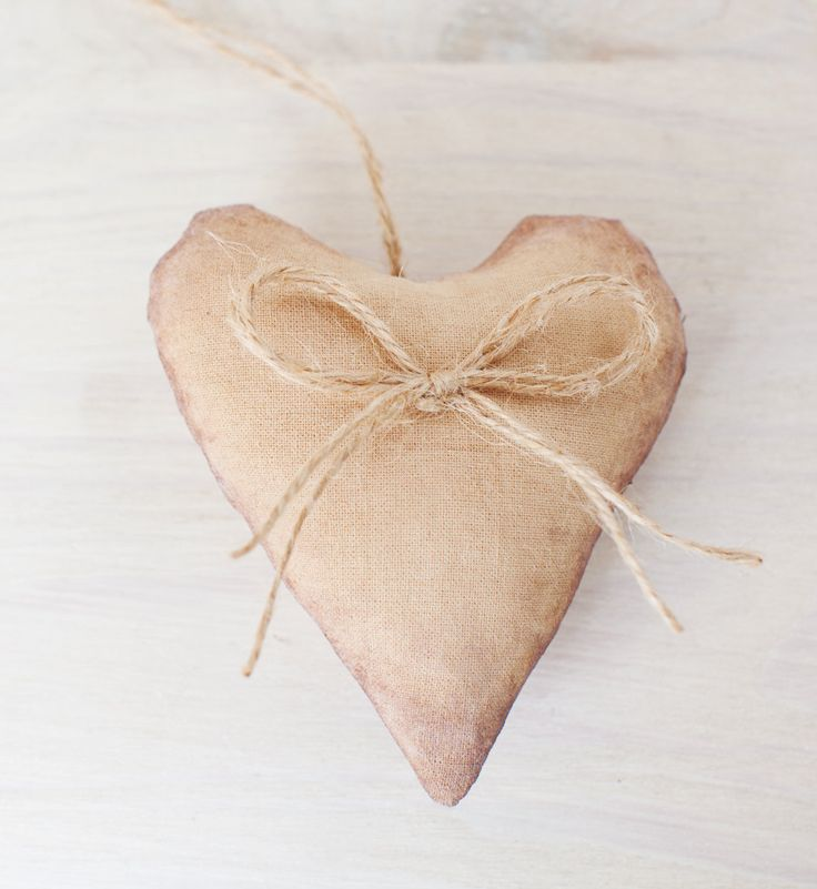 Hanging Fabric Heart, stuffed heart for gift / decoration / wedding / valentine by MrsFoxStudio on Etsy