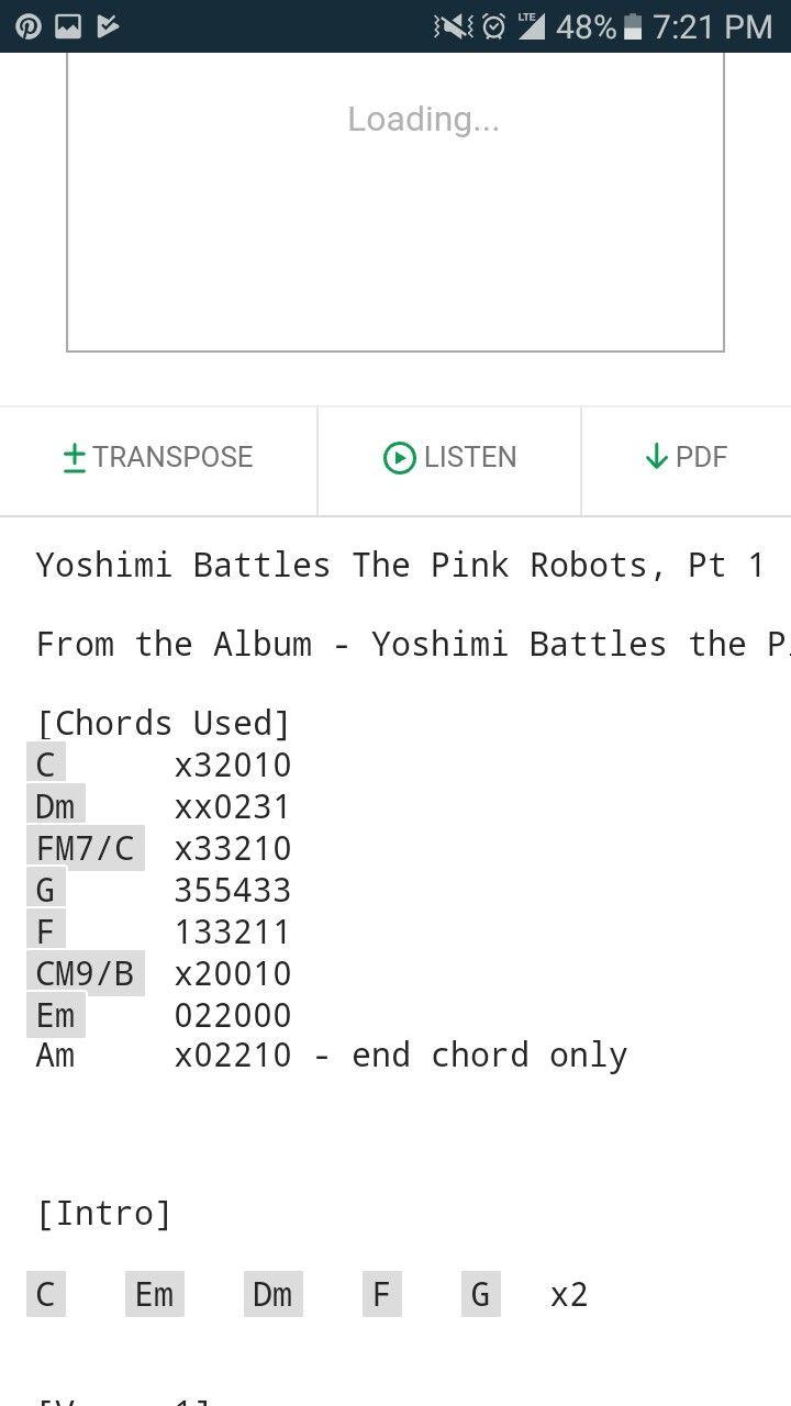 The Flaming Lips, Yoshimi Battles the Pink Robots guitar chords ...