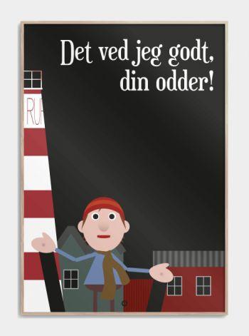 'Jullerup færgeby' plakat: Det ved jeg da godt din odder!